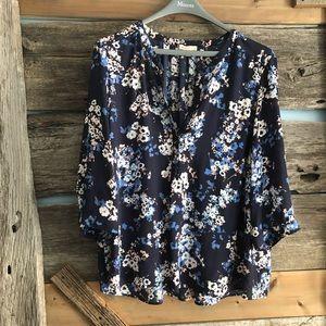Lila Rose plus size navy blouse size 3X
